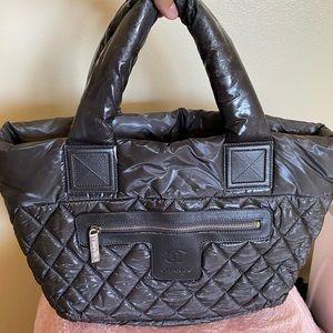 Auth Chanel coco cocoon quilted nylon reverse bag